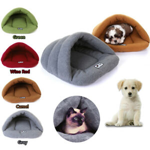 Stock-Cozy-Puppy-Cave-Crate-Warm-Winter-Bed-House-Sleeping-Bag-Plush-Mat-Dog