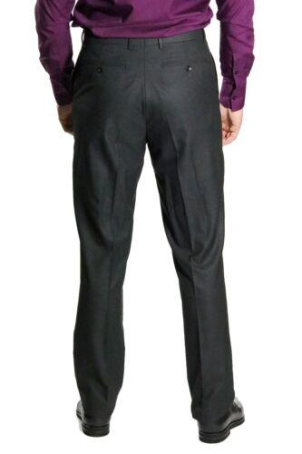 grigio a scuro Pantaloni classici 32 uomo Gr pieghe da TPqwv0