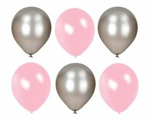 Latex Pearl Silver Pack of 100-12/'/' Balloons Wedding Party Helium Air