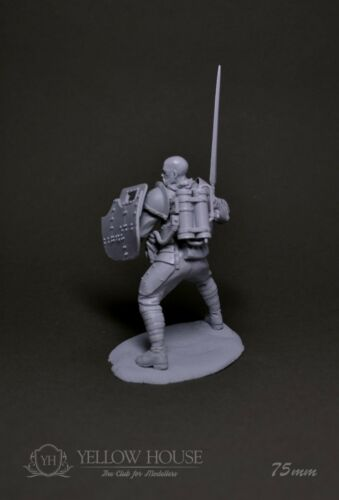 WWI Steampunk Infantry Soldier Shield 75mm Resin Yellow House Club Andrea Pegaso