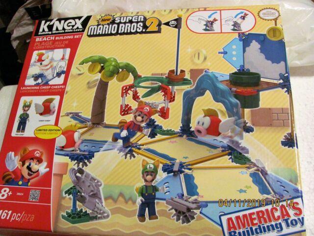 Limited Edition K Nex New Super Mario Bros 2 Beach Building Set