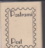 Pastrami Post Ruth's Wood Mounted Rubber Stamp 2 1/2 X 2 Free Shipping