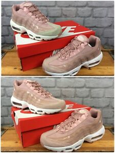 quality design f0510 b5fad Details about NIKE AIR MAX 95 LADIES PINK LEATHER MESH PATENT TONAL  TRAINERS VARIOUS SIZES