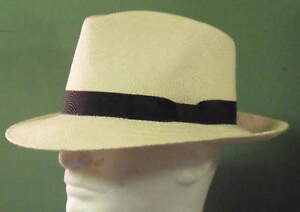 f47521f9 Image is loading STETSON-RETRO-GENUINE-PANAMA-STRAW-FEDORA-HAT