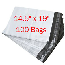 100 145x19 Poly Mailers Shipping Envelopes Self Sealing Plastic Bags 25 Mil Us