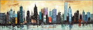 Atelier-B-Skyline-on-Abstract-CITYSCAPE-IMMAGINE-Telaio-incastro-TELA