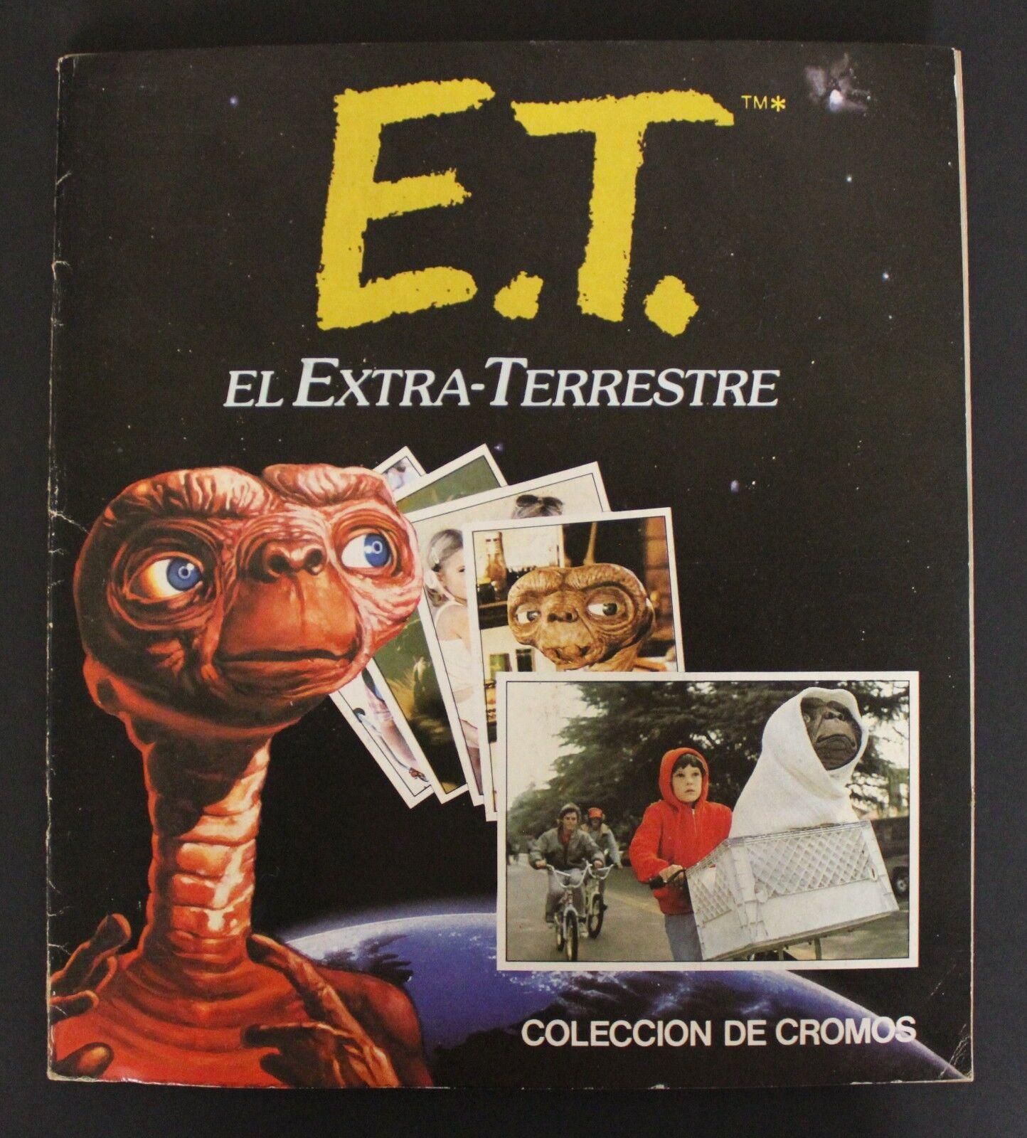 1982 Ediciones Este E.T. / ET TRADING CARDS ALBUM 100% complete Spanish vintage