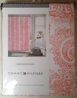 NIP TOMMY HILFIGER CANYON PAISLEY ORANGE/WHITE 72 x 72 SHOWER CURTAIN