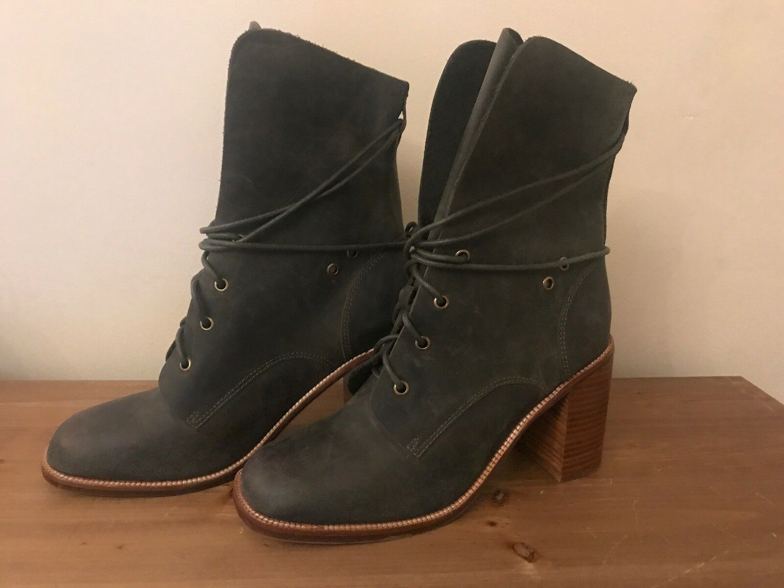 NEW Free people + Jeffrey Campbell Andover Lace boot Up boot Lace Größe 10 MSRP: 225 e58618