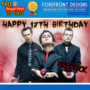 Personalised Birthday Greeting Card A5 GREEN DAY