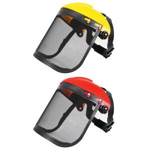 Elektrisch Schneiden Kettensäge Sicherheit Helm Rasenmäher Schutz Maske #R