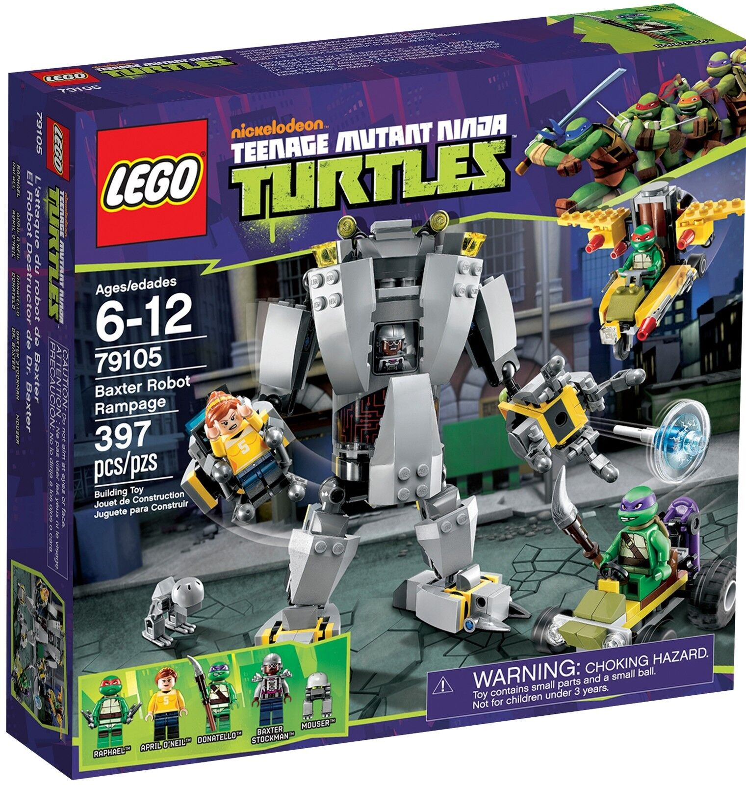 Lego TMNT 79105 BAXTER ROBOT RAMPAGE Raphael April O'Neil Minifig NISB Xmas Gift