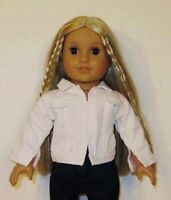 White Denim Jacket Fits 18 American Girl Doll,journey Girl/18 Inch Doll Clothes