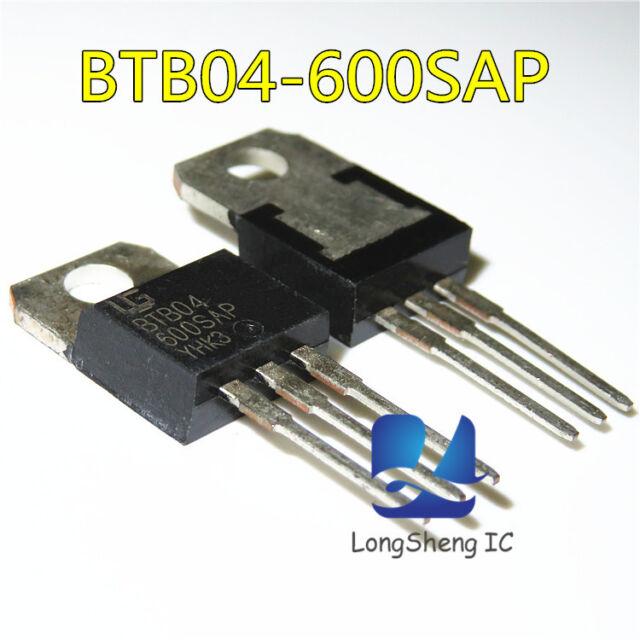 1 PC btb04-600t TRIAC 4a 600v to220ab New