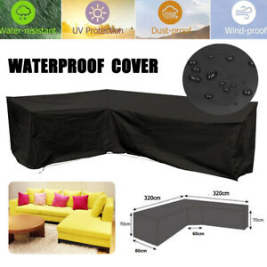 Waterproof Stacking Chair Cover Outdoor Garden Parkland Patio Chairs