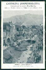 Ragusa Modica Alluvione 1902 Teatro Lirico Milano cartolina QT8042