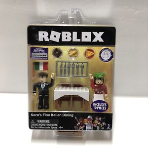 Roblox-Soro-039-s-Fine-Italian-Dining-Miniature-Figure-2-Pack-With-Virtual-Item-Code