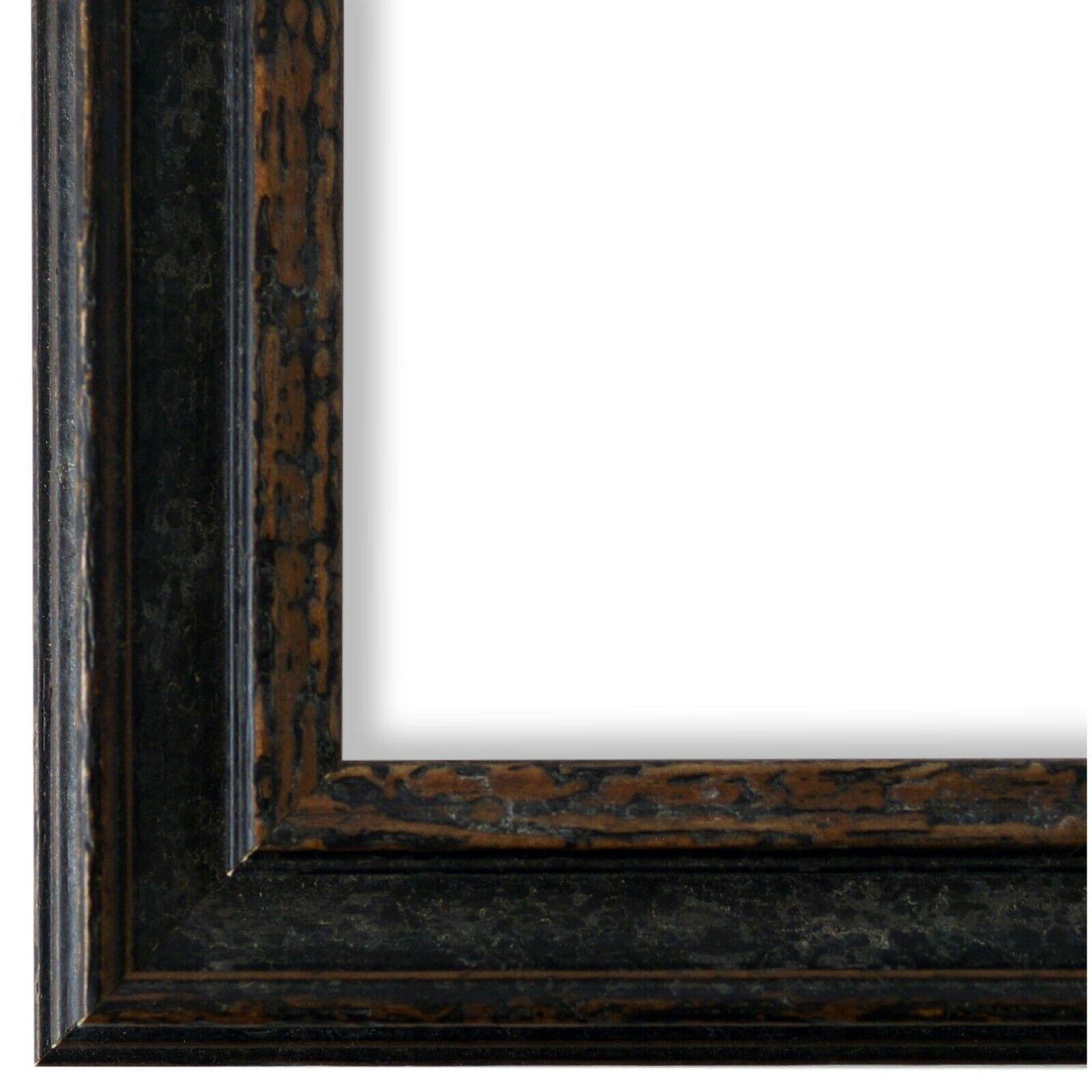Bilderrahmen Rahmen Schwarz Vintage Retro Holz Forli 3,7 - NEU alle Größen