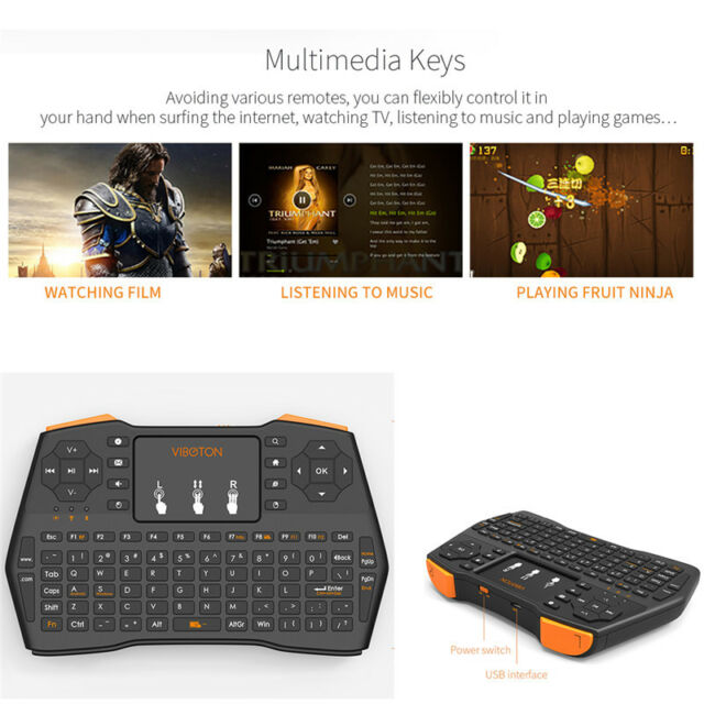 Fly Air Mouse 2.4G i8 Plus Wireless Keyboard Touchpad For Android PC Laptop MN