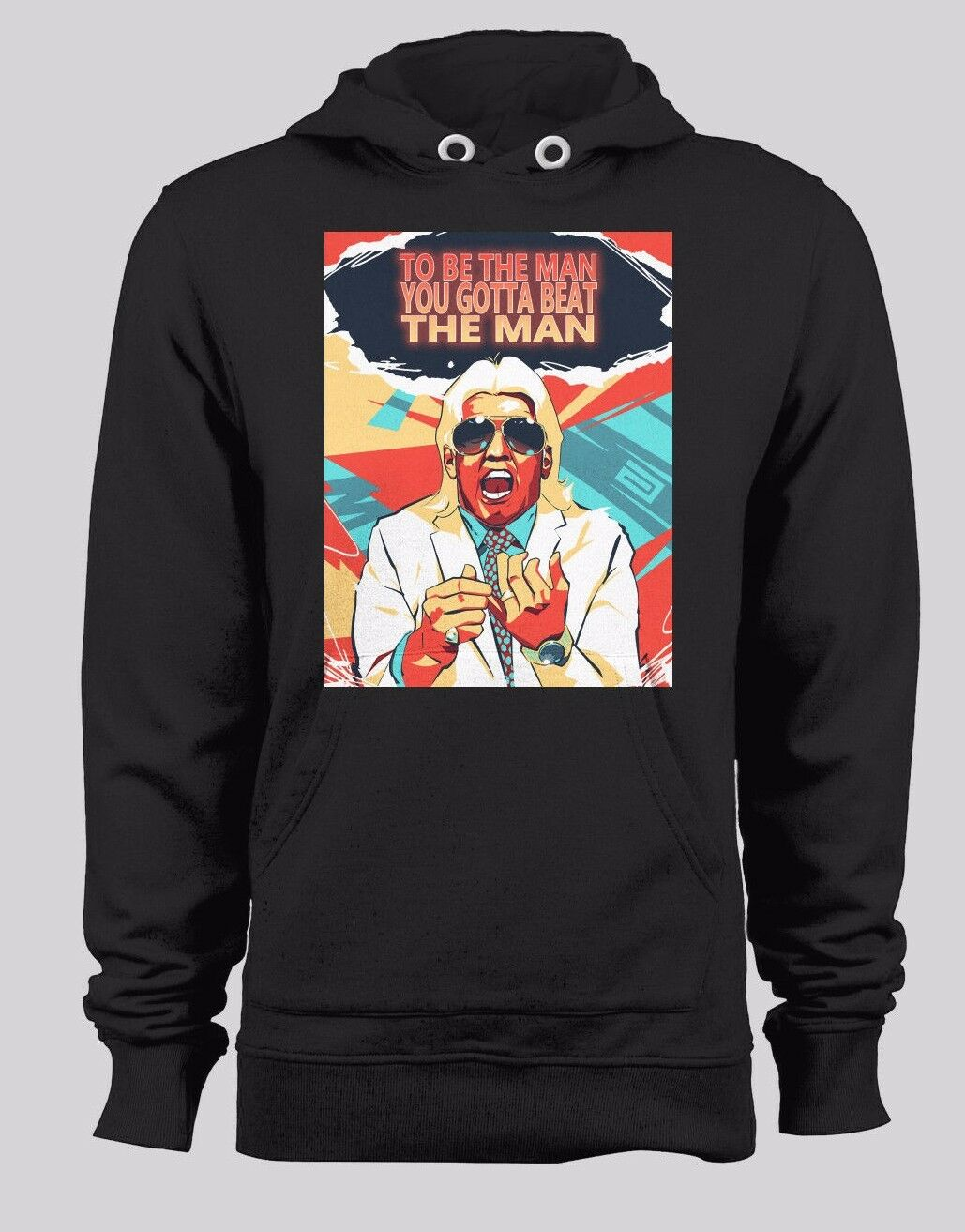 RIC FLAIR WINTER HOODIE OLDSKOOL TO BE THE MAN CUSTOM QUALITY MANY OPTIONS