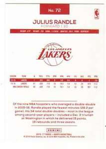 2016-17-Panini-NBA-Hoops-Basketball-Red-Backs-72-Julius-Randle-Lakers