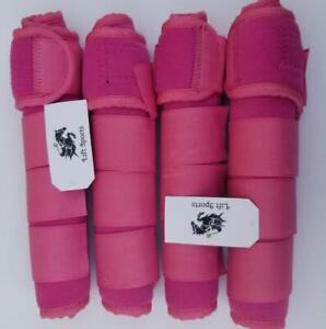 Pferd-Medizin-Gamaschen-Leg-Wrap-Schutz-Set-2-und-4-Unterstuetzung-Allsize