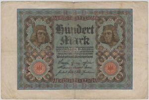 Mazuma *F803 Germany 1920 100 Marks 1342431 VF