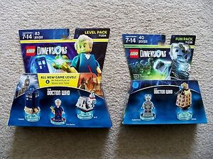 LEGO-Video-Game-Dimensions-Level-amp-Fun-Pack-Doctor-Who-71204-amp-71238-New