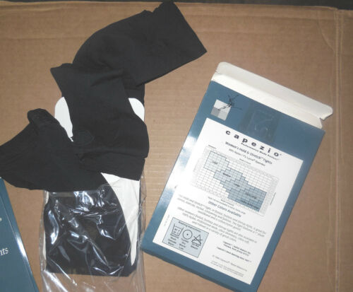 NWT Capezio 145 Stirrup Tights Child//Adult Black Hold /& Stretch Lycra supportive