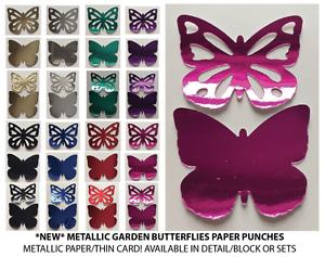 PAPILLONS JARDIN-Metallic 140GSM! multi annonce! 30 pieces! * NEUF *