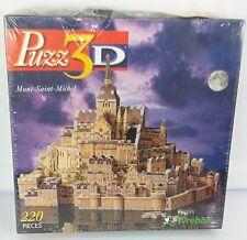 Puzz 3D Mont-Saint-Michel 220 Pieces 3 Dimensional Jigsaw Puzzle Sealed Box