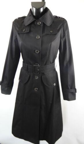 "AQUASCUTUM ""PINKERTON"" Rain Trench coat Sz 10 pour femme noire BNWT RRP 750 Made in UK afficher le titre d'origine"