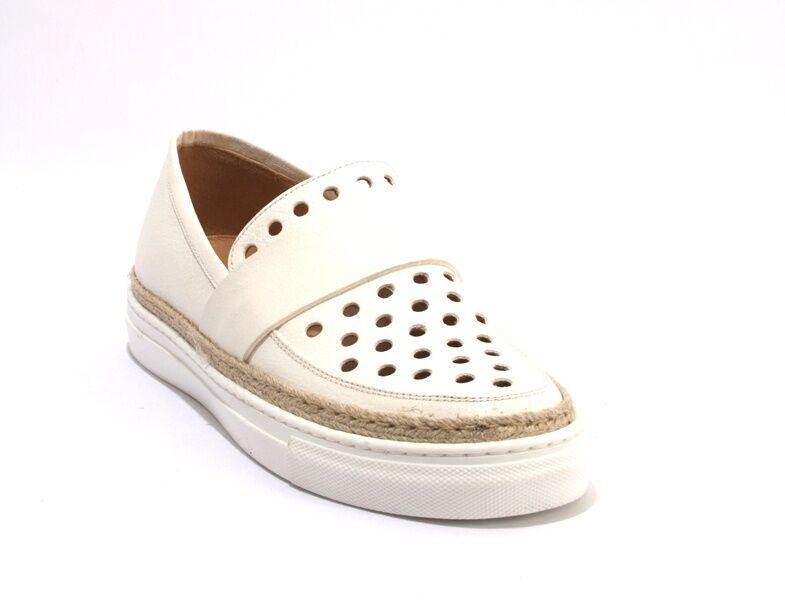 Laura Bellariva 6020 Off White Leather Slip-on Scarpe / da Ginnastica Shoes 39.5 / Scarpe US 9.5 207e10