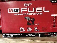 Milwaukee 2416 21xc M12 Fuel 12v 58 Inch 40ah Sds Plus Rotary Hammer Kit