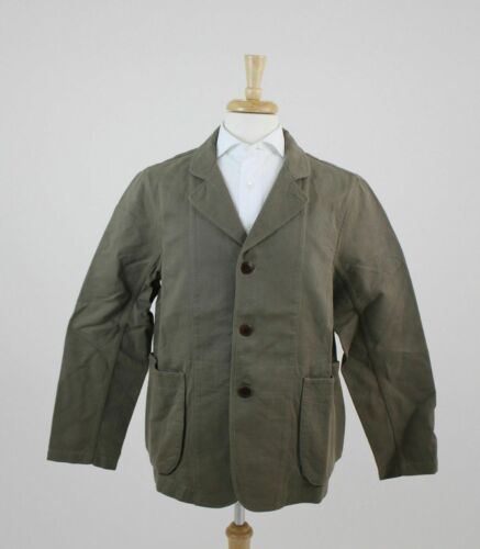 New Freemans Sporting Club Classic Moss Green Bedford Shacket Jacket Coat $249