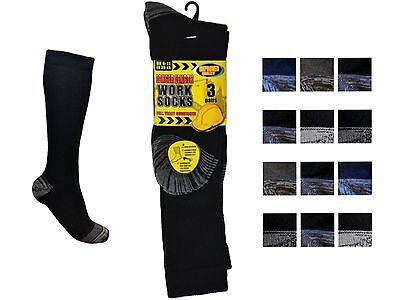 3 Mens Erbro® Workwear Cotton Rich Longer Length Ultimate Work Socks UK 6-11