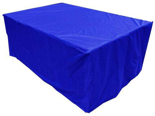 PREMIUM Abdeckplane Gartentisch Abdeckung Schutzhülle 250x140x90 Blau