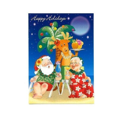 Island Heritage Holiday Happy Hour Hawaiian Christmas Cards Box of 12