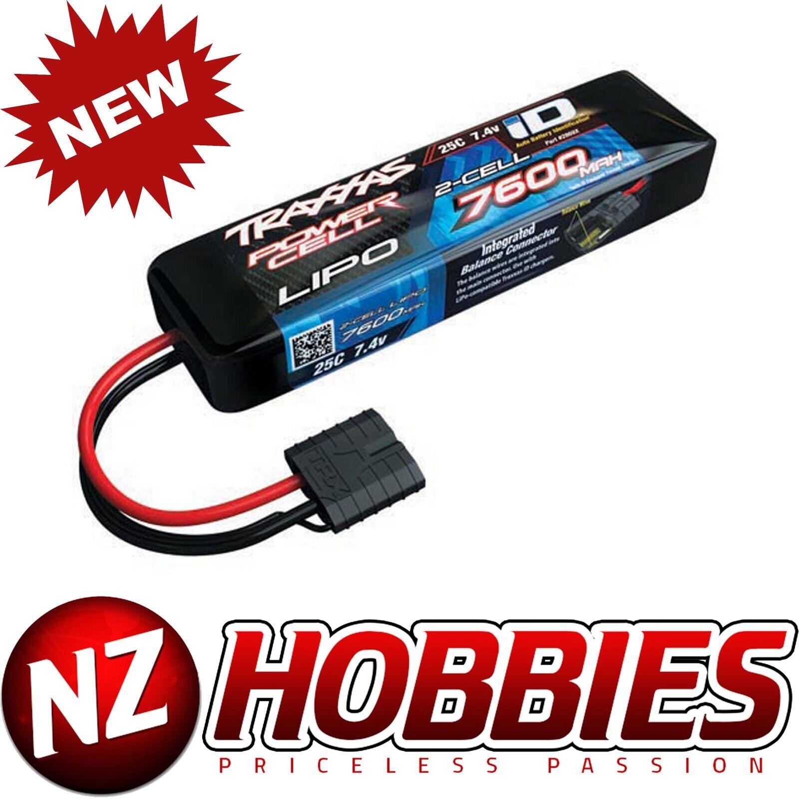 Traxxas 2869X 2S 7.4V 7600mAh 25C Batteria  Lipo W  Id  E-Maxx E-Revo Burshless  il più alla moda