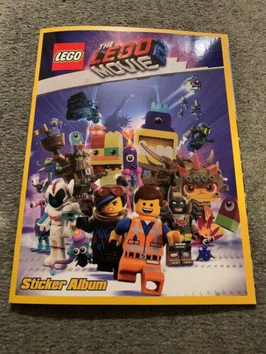 The Lego Movie 2 empty sticker album.
