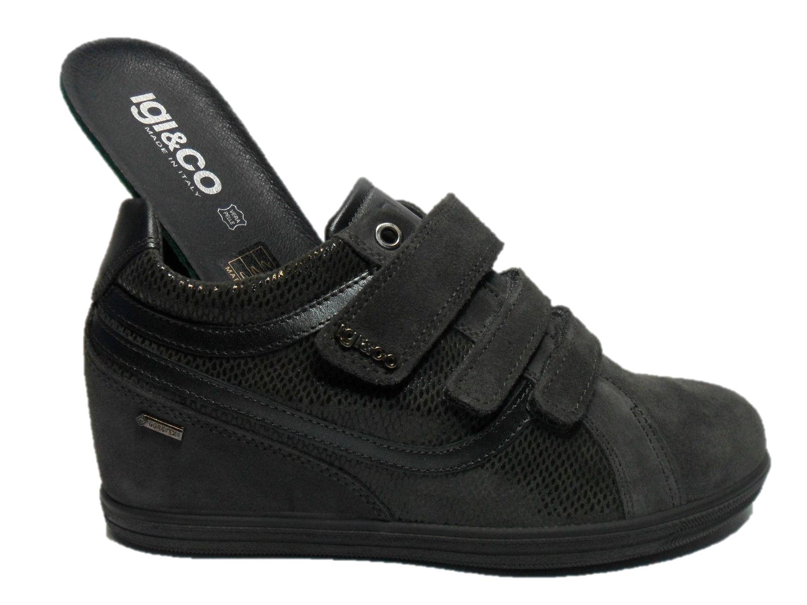 IGI & CO zapatos MODELLO mujer MODELLO zapatos zapatilla de deporte gris ZEPPA FODERA GORETEX - 48072 9f0b7e