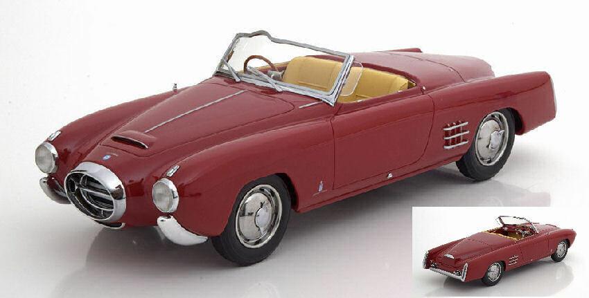 Lancia Aurelia Pf 200 C Spider Dark rojo 1 18 Model BOS MODEL