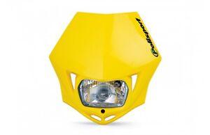 DOT-Approved-Polisport-MMX-Yellow-Headlight-Suzuki-RMZ250-etc-75-866-35Y
