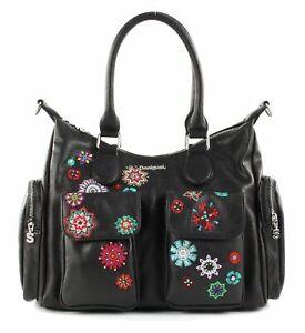 Desigual-London-Shoulder-Bag-Schultertasche-Tasche-Negro-Schwarz