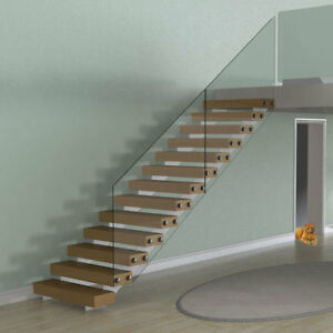 Image Is Loading Bespoke Gl Staircase Design Service Straight Flight String