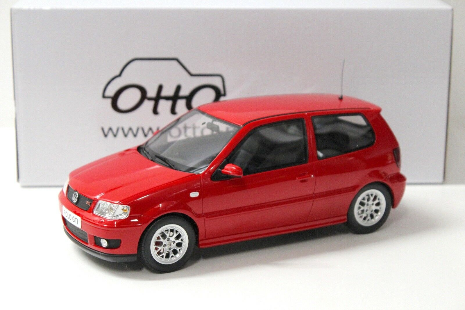 1 18 Otto vw polo gti 6n  rojo  2001 New en Premium-modelcars