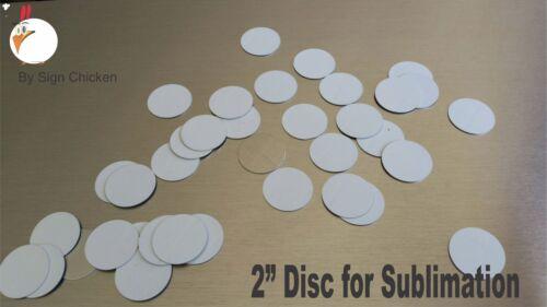 ".025 gauge aluminum disc 2/"" CIRCLE DISC for Dye Sublimation Lot of 15"