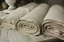 Vintage homespun linen hemp upholstery fabric 38.4YARDS ~ WASHED material WIDE