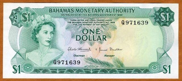Bahamas, 1 dollar, L. 1968, P-27, QEII, UNC