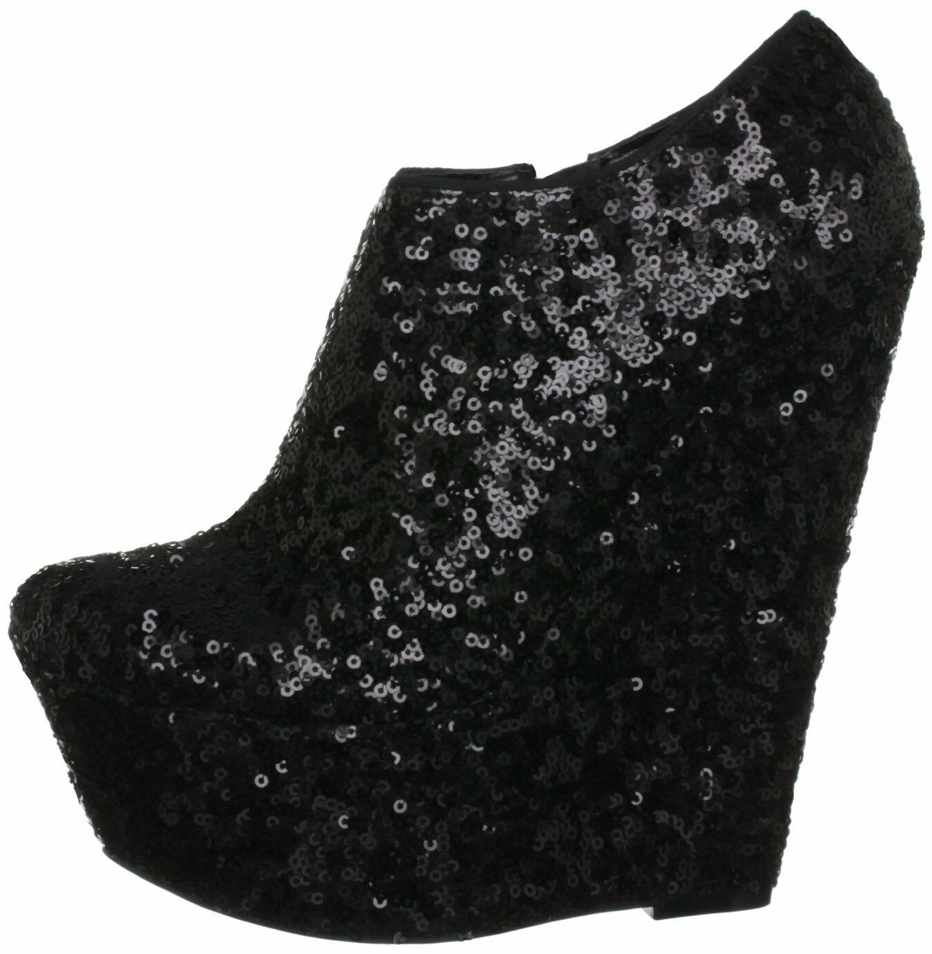 Grandes zapatos con descuento  160 BNWB CARVELA KURT GEIGER SIZE 7 BLACK GEORDIE WEDGE ANKLE SHOES BOOTS